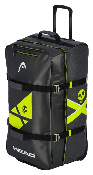 Сумка на колесах HEAD REBELS Travelbag (black/neon yellow) 98 л
